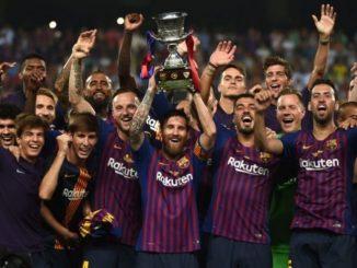 برشلونة بطلاً لكأس السوبر