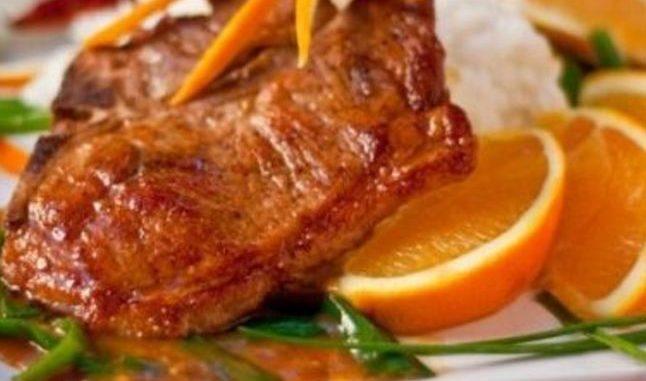 اللحم المقرمش بالبرتقال